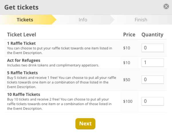 Ticket Levels and Registration